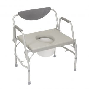 Bariatric Drop Arm Commode - 24in 1000lb