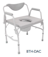 Bariatric Drop Arm Commode 24in-600lb
