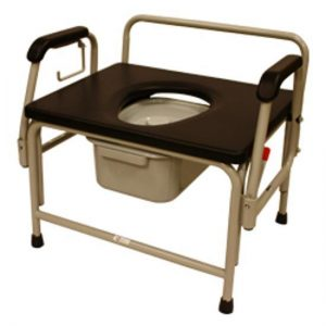 Bariatric Drop Arm Commode - 36in Extra Wide 1000lb